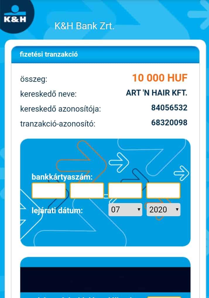 fizetési tranzakció